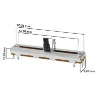 Potenciometro slide 45mm curso mesa de som
